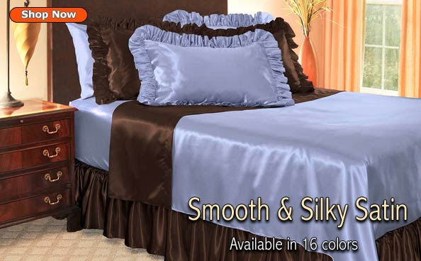 satin pillowcases pillow shams bed skirts