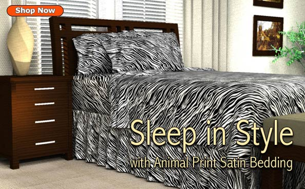 Animal print satin bedding