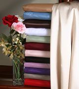 Stack of 13 Colors of Satin Sheets