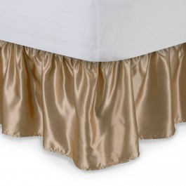Satin Ruffled Bed Skirt