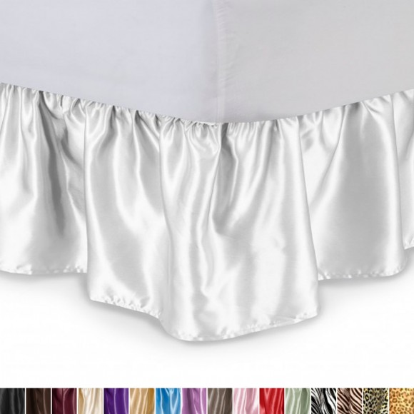 Satin Ruffled Bed Skirt Shopbedding Com