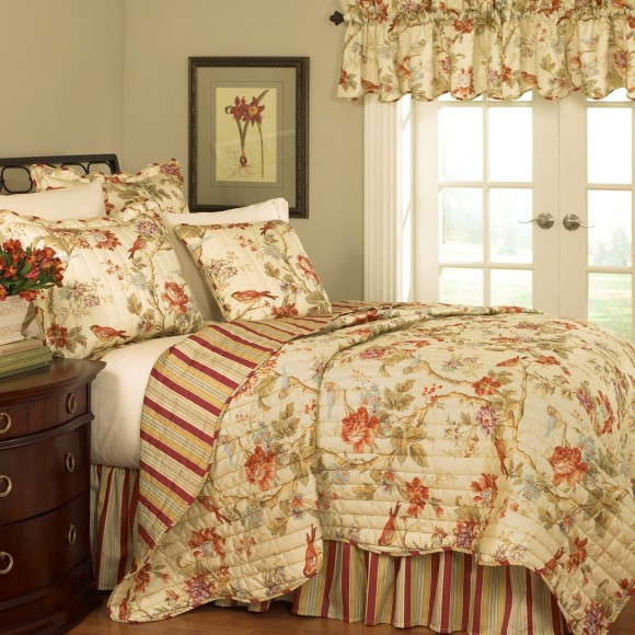 Waverly Charleston Chirp Quilt 3pc Twin Set Shopbedding Com