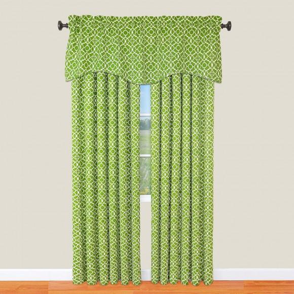 Waverly Lovely Lattice Curtain Panel And Valance