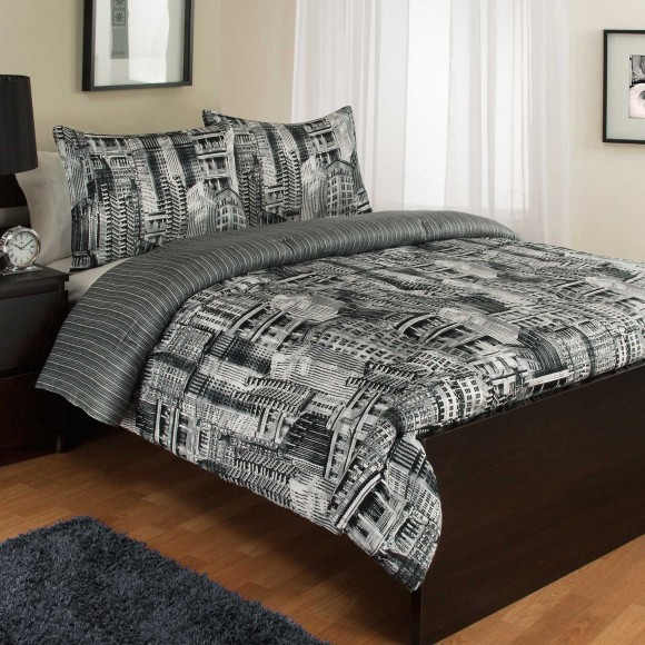 Royale Linens Madison Ave Reversible Comforter Set