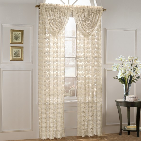 Marilyn Macrame Look Curtain Panels and Valance