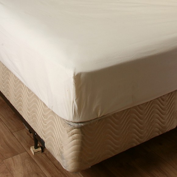 Unbleached Fitted Mattress Cover Shopbedding Com
