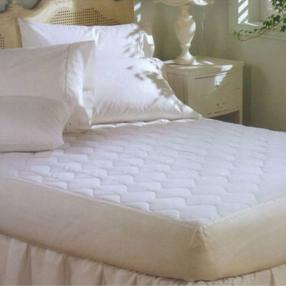 Classic Poly Cotton Quilted Fitted Mattress Pad