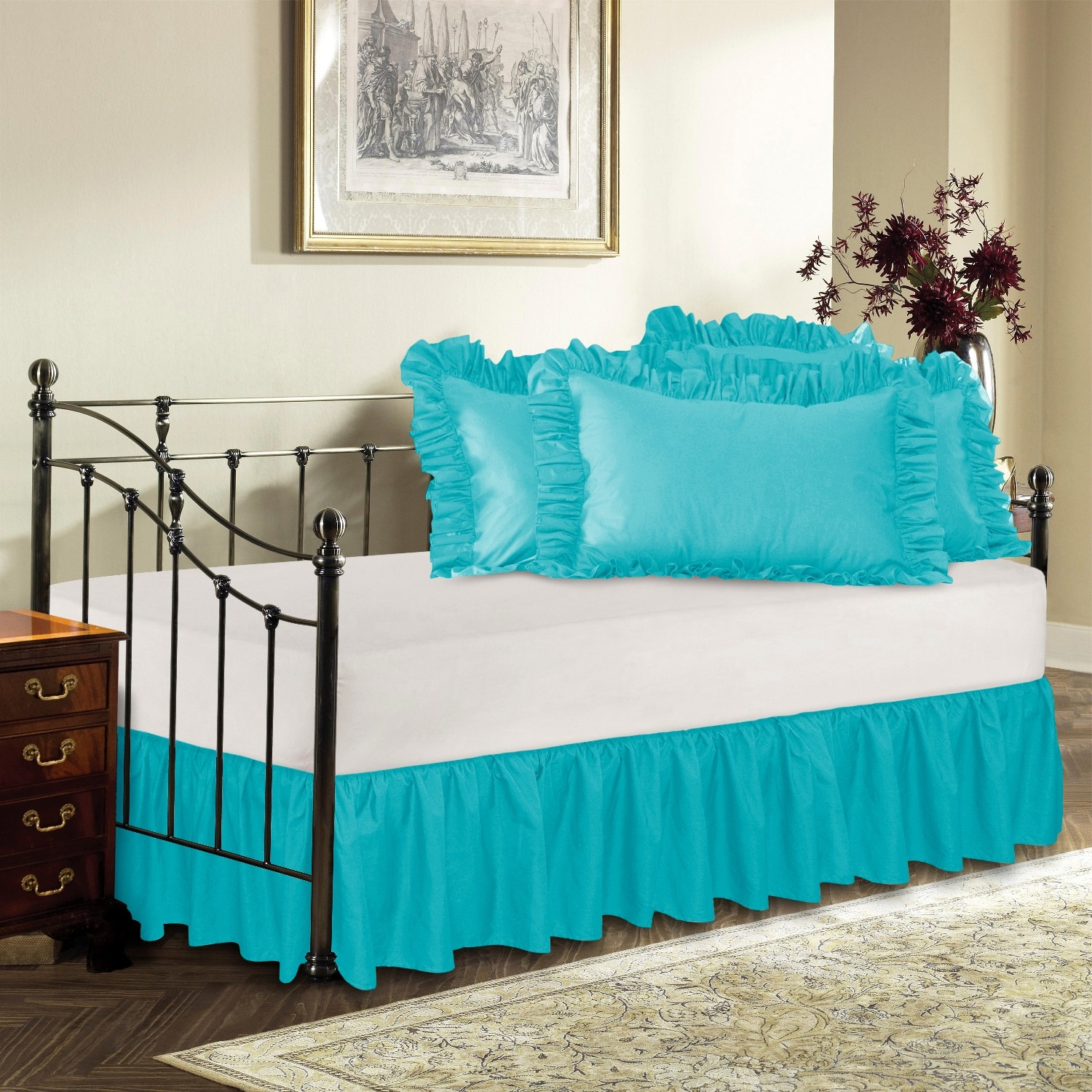 Split Corner Bedskirts Queen & King - Day Bed Ruffled Bed Skirt ShopBedding.com