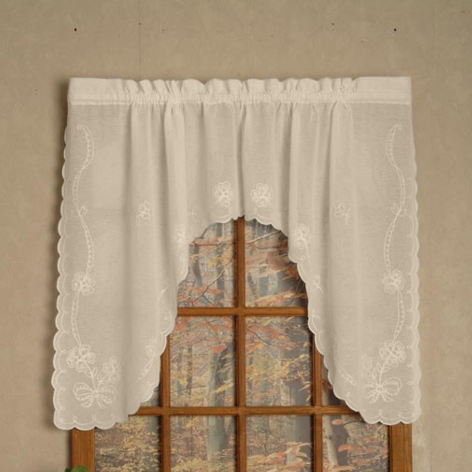 on free sheer shipping over product overstock home valances orders ascot curtain valance garden voile single no crush erica