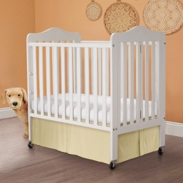 Sateen Stripe Tailored Porta Crib Bed Skirt