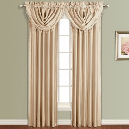 Anna Lined Faux Silk Curtain Panel