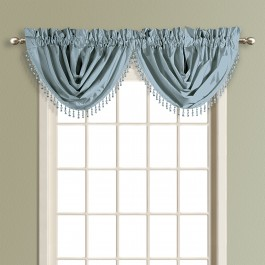 Anna Faux Silk Waterfall Valance