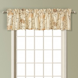 Avalon Emboridered Faux Silk Valance