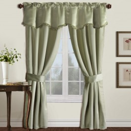 Burlington Solid Blackout Curtain 5-Piece Set