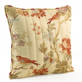 "Waverly Charleston Chirp Quilted 20"" pillow"