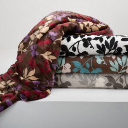 Berkshire Sablesoft Colored Leaves Throw