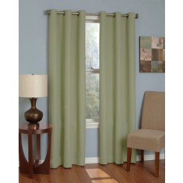 Eclipse Microfiber Thermaback Grommet Top Blackout Curtain Panel