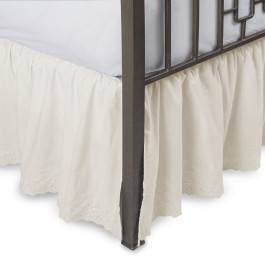 Eyelet Ruffled Bed Skirt With Split Corners