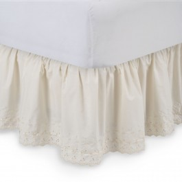 Eyelet Ruffled Bed Skirt