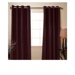 Faux Suede Curtain Grommets Panel - Set of 2