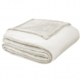 Blissford Embossed Fleece Throw Blanket