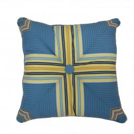 "Waverly Imperial Dress Porcelain Reversible 18"" Square Button Pillow"
