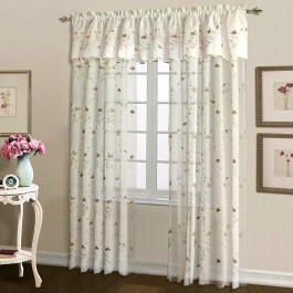 Loretta Embroidered Voile Curtain Panel