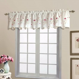 Loretta Embroidered Scalloped Valance