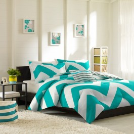Mi Zone Chevron Reversible Duvet Cover Set