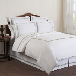 Wickham Linear Embroidered Duvet Cover