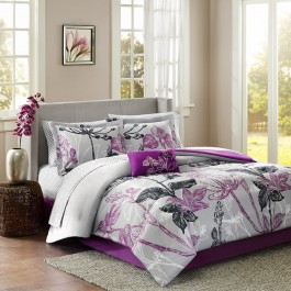 Madison Park Floral Complete Bedding Set with Sheets