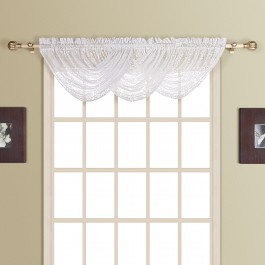 New Rochelle Lace Waterfall Valance