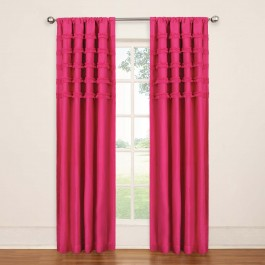 Eclipse Ruffle Batiste Blackout Curtain Panel