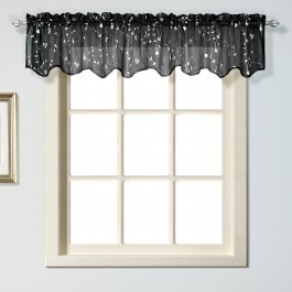 Savannah Embroidered Window Valance