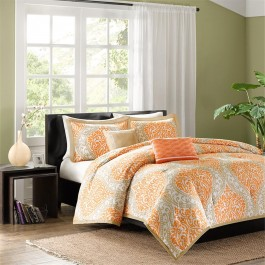 Intelligent Design Damask Comforter Set