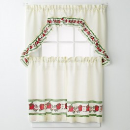 Apples 3-pc Kitchen Curtain Set