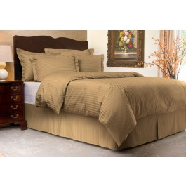 Sateen Striped Tailored Bedding Collection