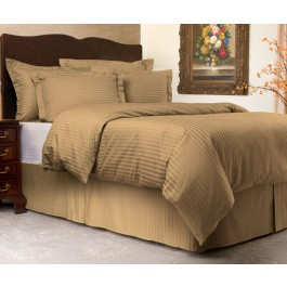 Sateen Stripe 300 Thread Count Duvet Cover