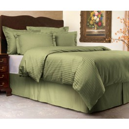 Sateen Stripe 3 pc. Duvet Cover Set