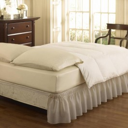 Easy Fit Ruffled Solid Bed Skirt