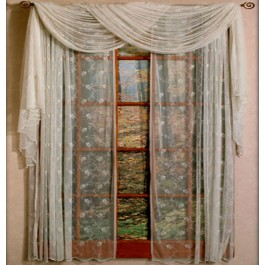 Floral Net Lace Curtain Panel