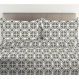 Geometric Print 300TC Cotton Duvet Cover Set