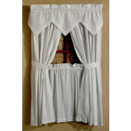 Hemstitch Tailored Curtain Pairs and Valances