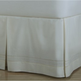 Hotel Stripe Tailored Cotton Bed Skirt