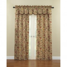 Waverly Imperial Dress Floral Curtain Panel and Valance