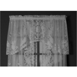 Irish Point Jacquard Lace Crescent Valance