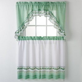 Ivy 3-pc Kitchen Curtain Set