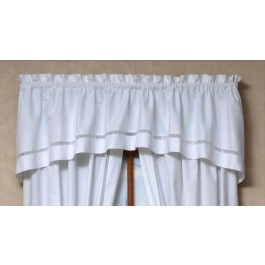 Lattice Handkerchief Crescent Valance