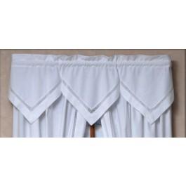 Lattice Handkerchief Valance - 3Pc Set
