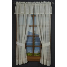 Leno Box Voile Tailored Curtain Panel Pair